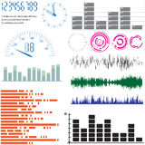 inställda scales för designelementutjämnare Arkivbild
