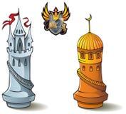 inställda schackråkor Royaltyfri Foto