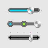Inställda UI-glidare Arkivfoton