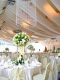 inställningstabellbröllop Arkivfoton