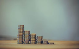 Instorting van de muntmarkt, de investeringsrisico's Royalty-vrije Stock Foto