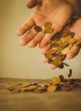 Instorting van de muntmarkt, de investeringsrisico's Stock Fotografie