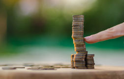 Instorting van de muntmarkt, de investeringsrisico's Royalty-vrije Stock Foto's