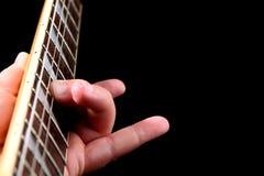 Instrução da guitarra elétrica Foto de Stock