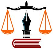 Instrução da lei ilustração do vetor