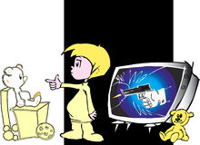 Instrução das crianças - media   Foto de Stock Royalty Free