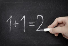 Instrução de escola da sala de aula da matemática do quadro fotos de stock