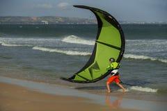 Instrução de Kitesurfing Imagem de Stock