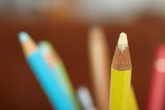 Instrução - lápis colorido sharpened Fotografia de Stock Royalty Free