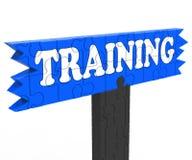 Instrução ou treinamento de formação da educação das mostras Imagens de Stock