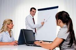 Instrução para o treinamento de equipe de funcionários para adultos Imagem de Stock