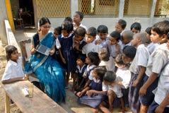 Instrução rural em India Foto de Stock