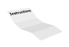 Instruções Imagem de Stock