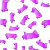 Instruções passo a passo como fazer a origâmi um pássaro Imagens de Stock Royalty Free