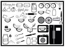 Instrucción de cocción, empanada que cuece Foto de archivo libre de regalías