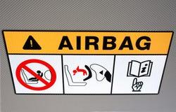 Instrucción del saco hinchable en el vehículo Fotografía de archivo libre de regalías