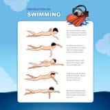 Instrucción en la natación Fotos de archivo
