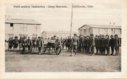 Instrucciones de la artillería de campo Fotos de archivo