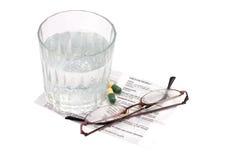 Instrucciones de la medicación Fotografía de archivo libre de regalías