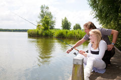 Instrucciones de la pesca Fotografía de archivo