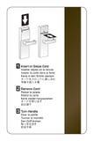 Instrucciones del bloqueo de puerta de la llave electrónica   Imagenes de archivo