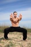 Instructeur d'arts martiaux photos libres de droits