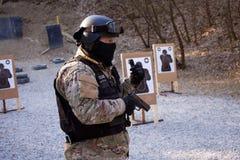 Instructeur de forces spéciales Images libres de droits