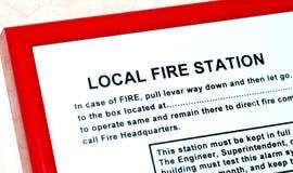 Instructie over de lokale brandweerkazerne royalty-vrije stock foto's