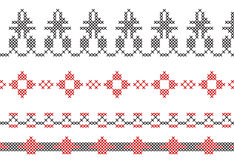 Instructie voor dwars-steekgrenzen van kaders Stock Afbeeldingen