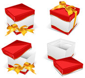 Instruction on box opening Royalty Free Stock Images