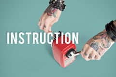Instruction Direction Installation Regulations Guideline Stock Images