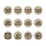 Instruction laundry, drycleaning, care icons Royalty Free Stock Images