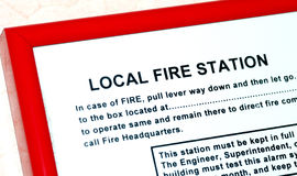 Instruction about the local fire station. In a building royalty free stock photos
