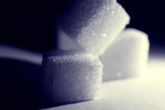 Instruction-macro 2 de cube en sucre Image stock