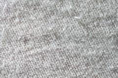 Instruction-macro blanc de tissu Image stock
