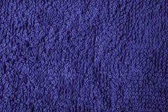 Instruction-macro bleu-foncé d'essuie-main de coton Photo stock