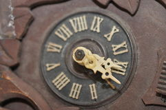Instruction-macro d'horloge de coucou Image stock