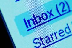 Instruction-macro d'inbox d'écran d'ordinateur image libre de droits