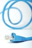 instruction-macro d'Internet de câble photos stock