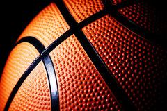 Instruction-macro d'un basket-ball Photographie stock libre de droits
