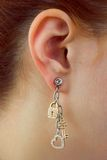 Instruction-macro de boucle d'oreille Photographie stock libre de droits