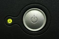 Instruction-macro de bouton de pouvoir de moniteur d'ordinateur Image libre de droits