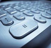 instruction-macro de clavier de bouton Photographie stock