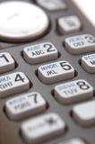 Instruction-macro de clavier numérique de téléphone Photographie stock