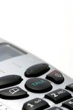Instruction-macro de combiné téléphonique de téléphone sans fil au-dessus de blanc Photos stock