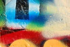 Instruction-macro de graffiti Image stock