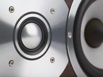 Instruction-macro de haut-parleur Images stock