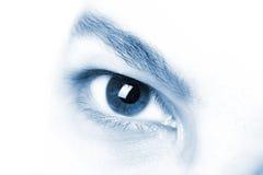 Instruction-macro de l'oeil du bel homme images libres de droits