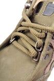 Instruction-macro de lacet de chaussure image libre de droits