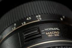 Instruction-macro de lentille Photo stock